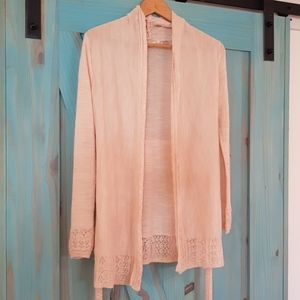(Anthropologie) Knitted & knotted wrap sweater XS